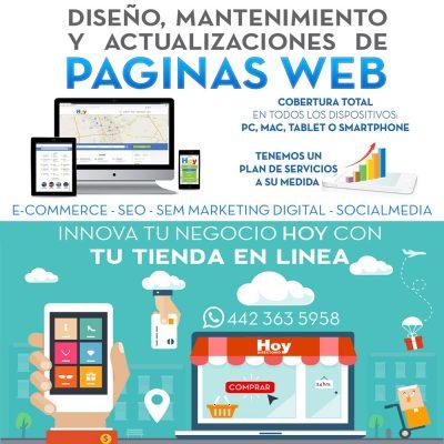 Páginas Web y Tiendas en Linea Querétaro